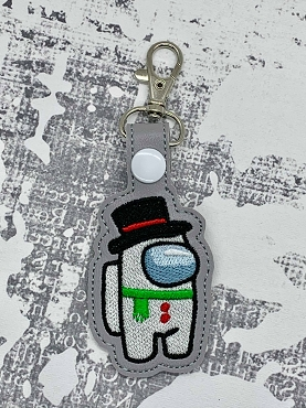 Frosty Crewmate Snaptab / Keyfob Embroidery Design